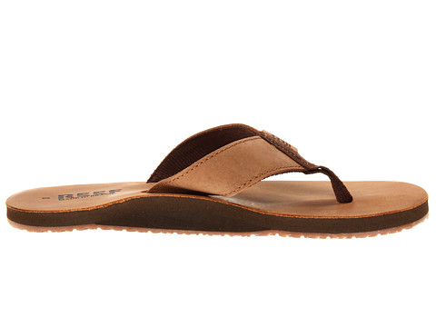 Bruine heren slipper Reef Leaather Smoothy