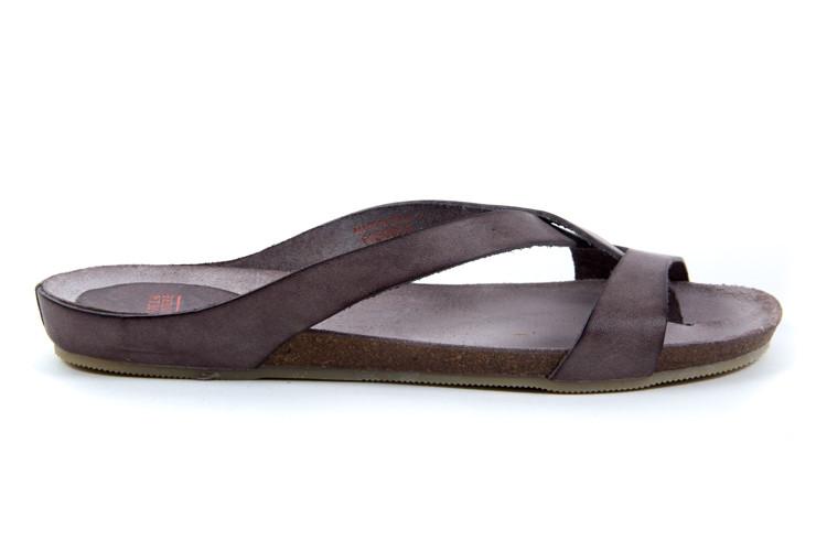 Taupe dames slippers Fred de la bretoniere  - 170010012
