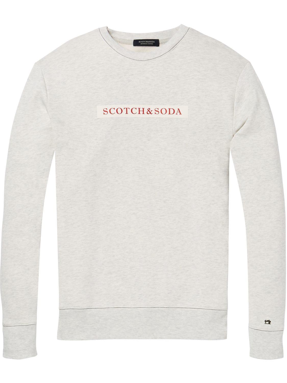 Witte /melee sweater heren Scotch & Soda - 145482 - 1161