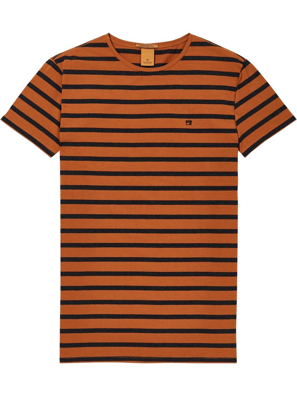 Bruin heren t-shirt Scotch & Soda - 145533 - 0587