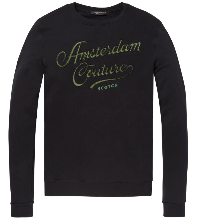 Zwarte heren sweater Scotch & Soda - 145460 - 0008
