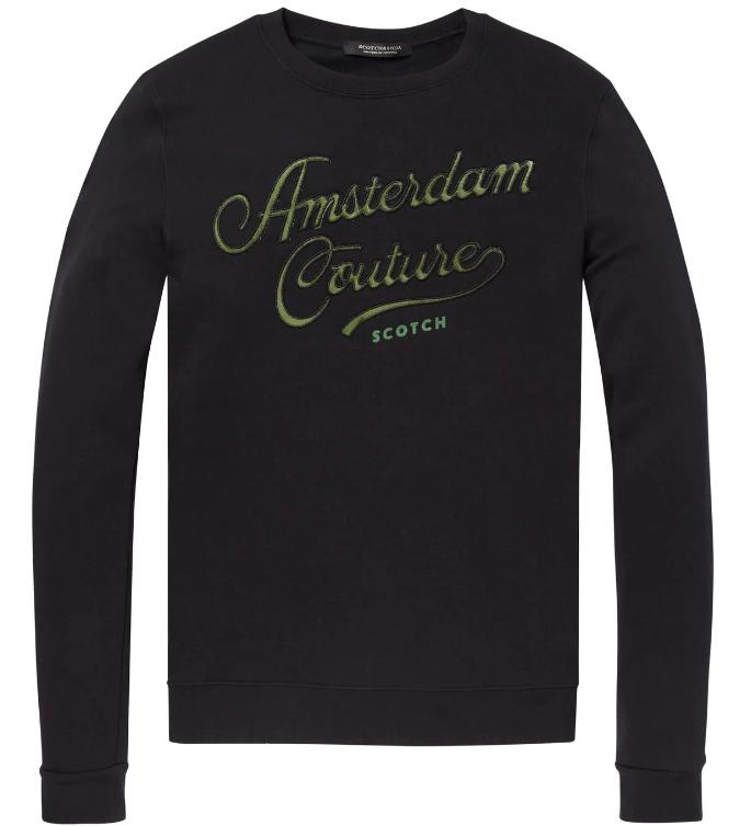 Zwarte heren sweater Scotch & Soda - 145460 - 0008