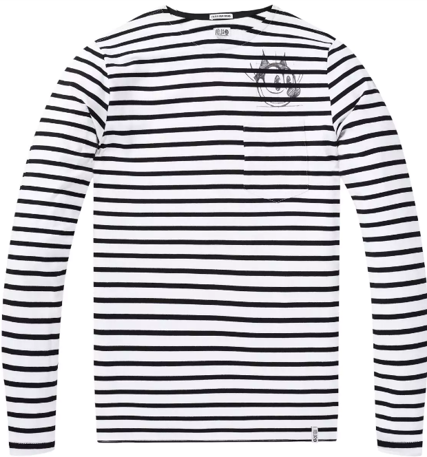 Zwart/Wit gestreept heren t-shirt Scotch & Soda - 144208 - 17