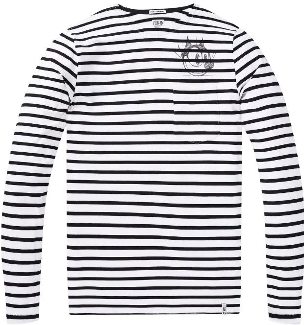 Zwart/Wit gestreept heren t-shirt Scotch & Soda - 144208 - 17