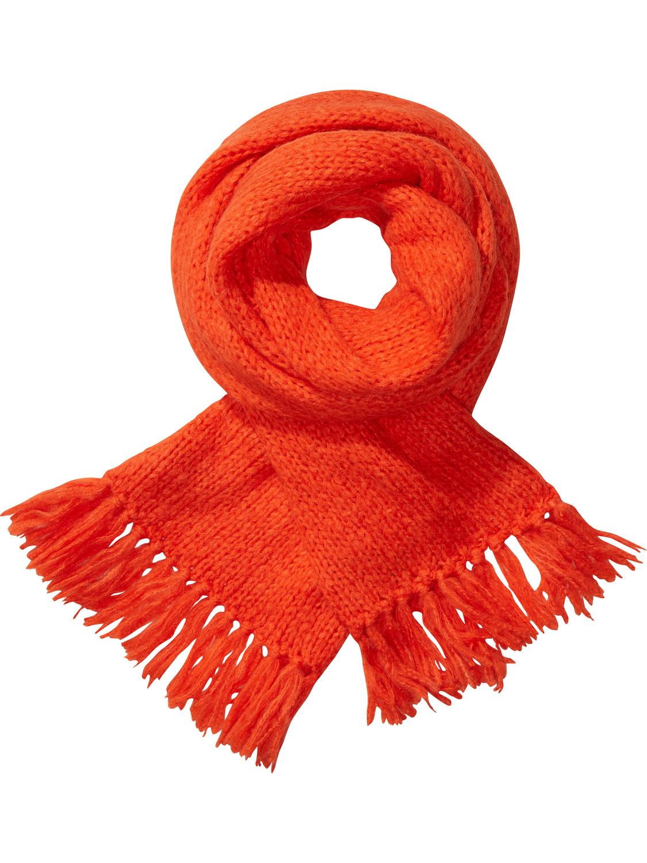 Tangerine gebreide dames sjaal Maison Scotch 13197