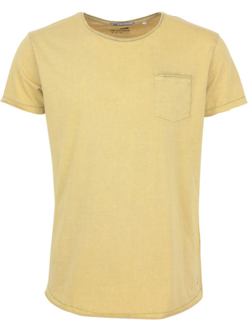Geel heren T-shirt NO Excess - 87340702 - 072 dk yellow