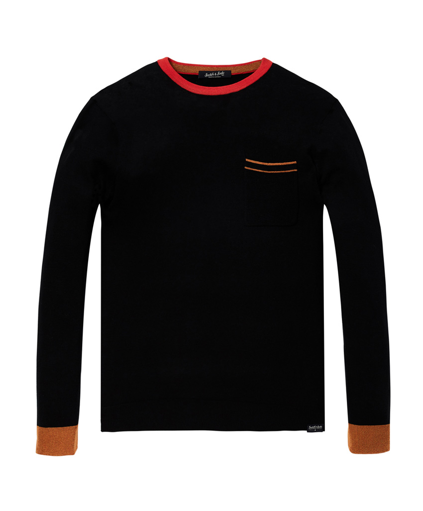 Zwarte pullover heren Scotch & Soda  - 145567 - 90360