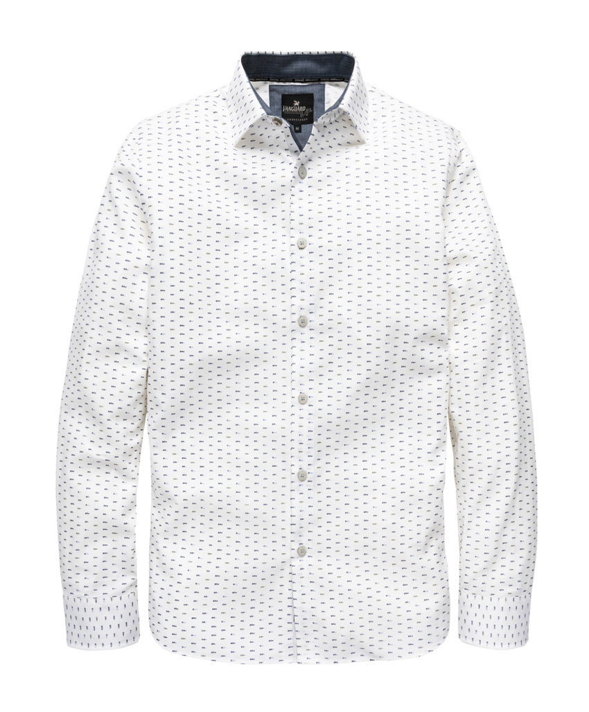 Wit heren overhemd Vanguard - VSI187404 - 7003