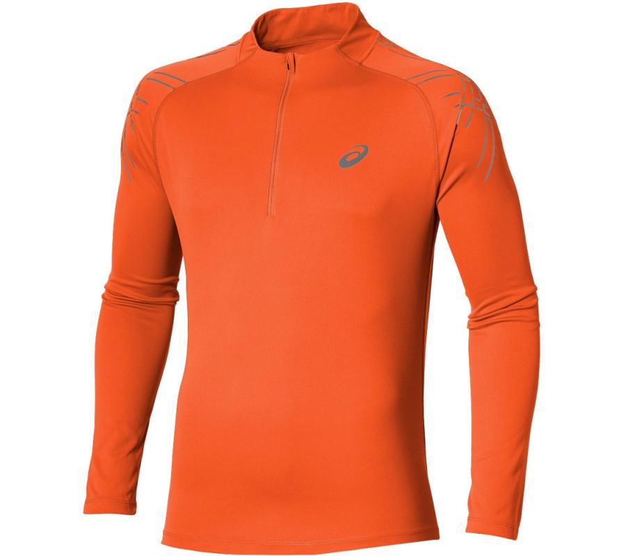 Oranje heren lange mouw hardloopshirt Asics 134102-6002