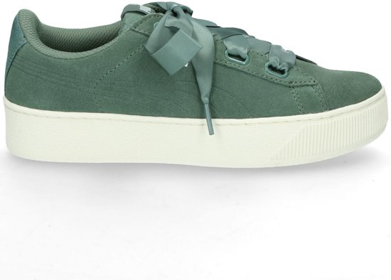 Groene dames schoen Puma - Vikky platform ribbon S - 005