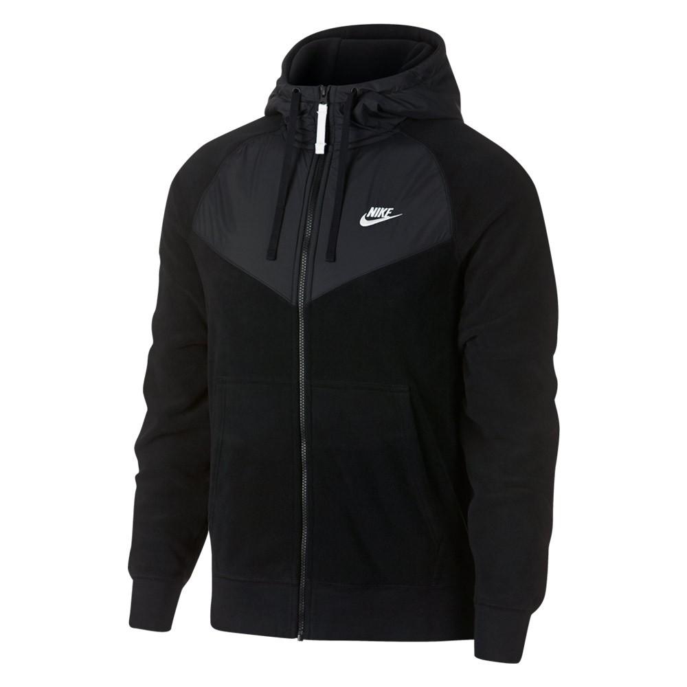 Zwart heren sport hoodie Nike - 929114 M NSW Hoodie FZ - 010