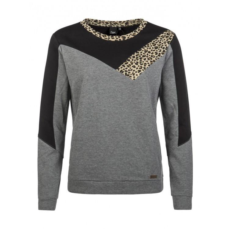 grijs zwarte dames sweater Protest PHI 592