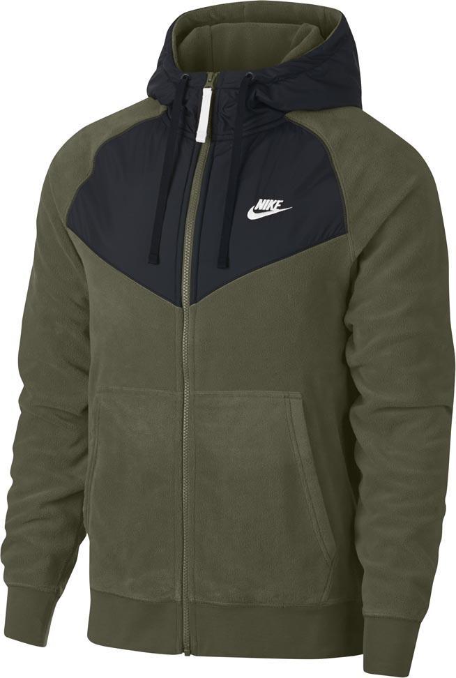 Groen Zwart heren vest Nike - 929114 M NSW Hoodie - 395