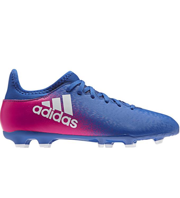Blauw/Paars Adidas X 16.3 FG Junior BB5695