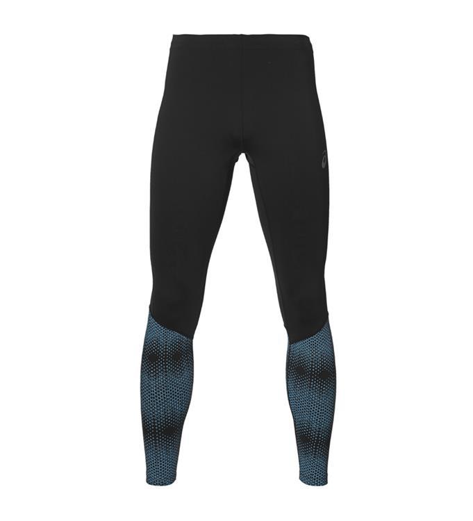 Zwart/Blauw Heren Runningtight Asics