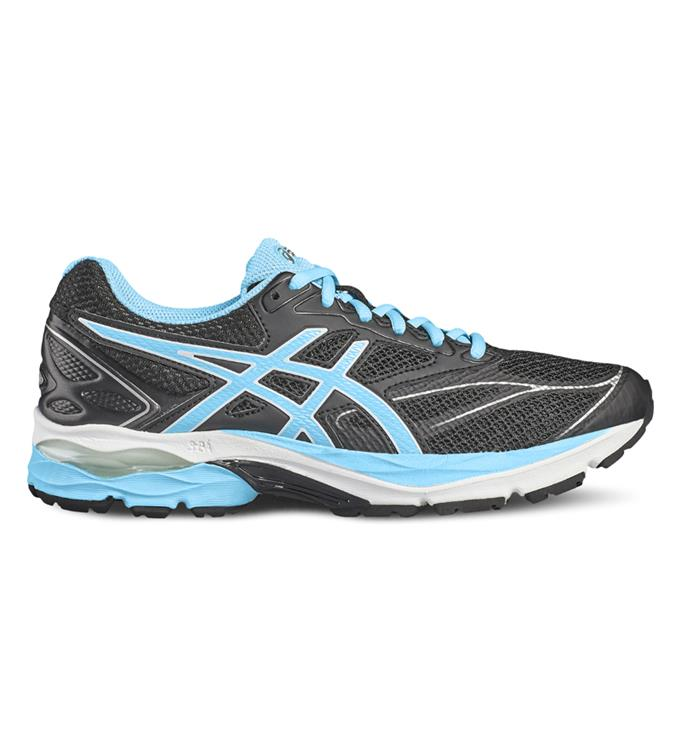 Zwart blauwe dames running schoen Asics - Gel-pulse 8 9039