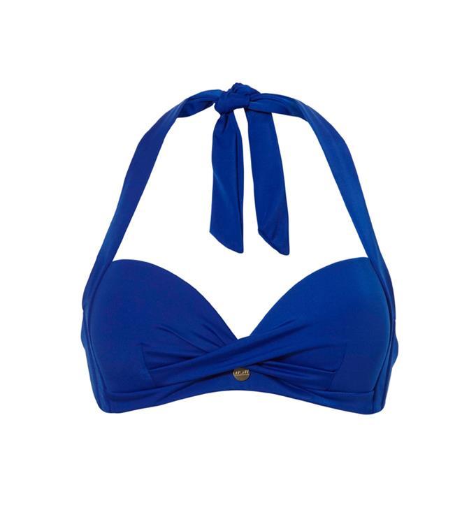 Blauwe dames bikini top cupC WOW - Halter