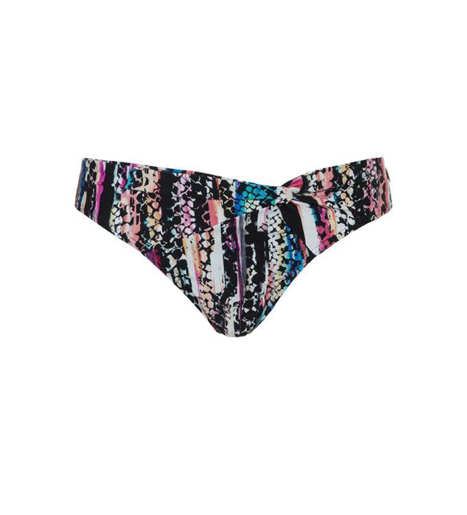Zwart gekleurde dames bikini slip WOW - Knot