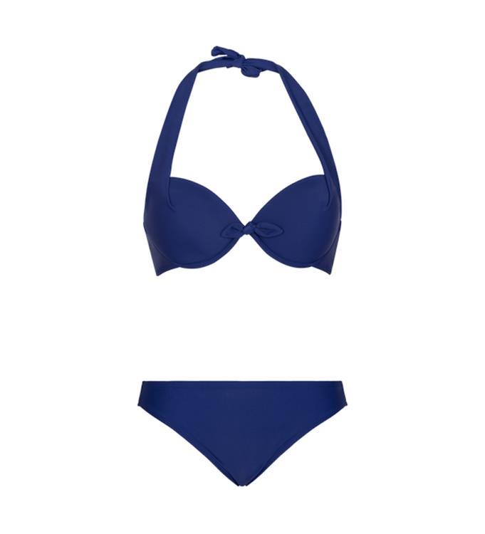 Donkerblauwe dames bikini Lingadore cup B - Ibiza halterneck