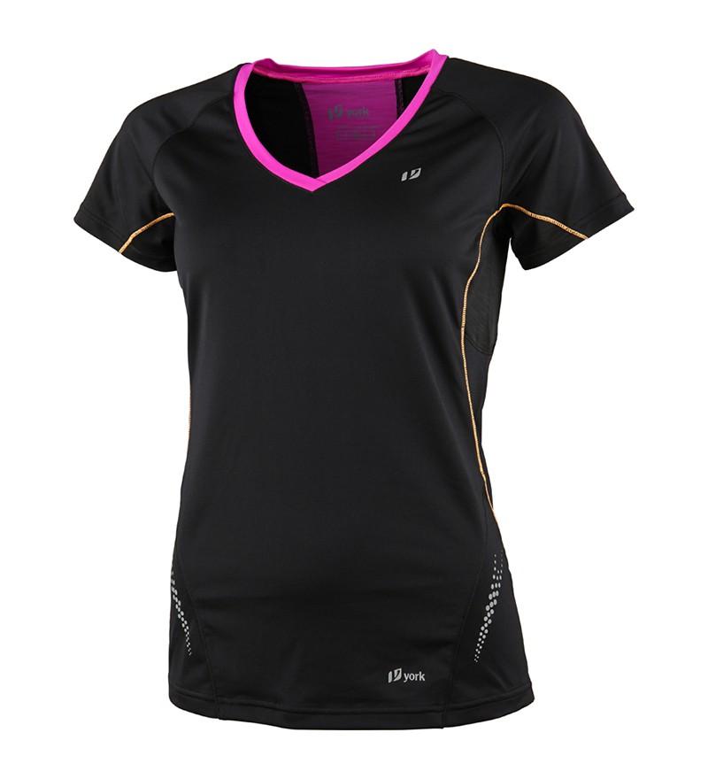 Zwart hardloop tshirt dames York  Rachel 3293