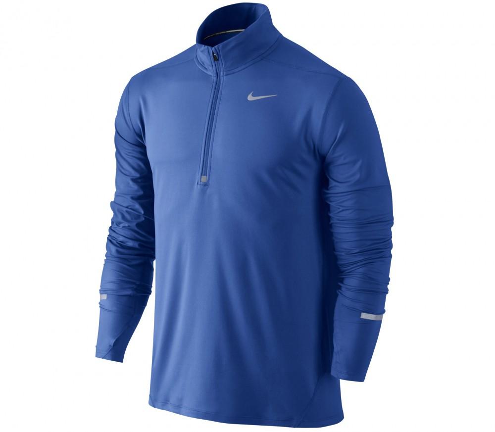 blauwe langemouw runningshirt heren Nike 683485 480