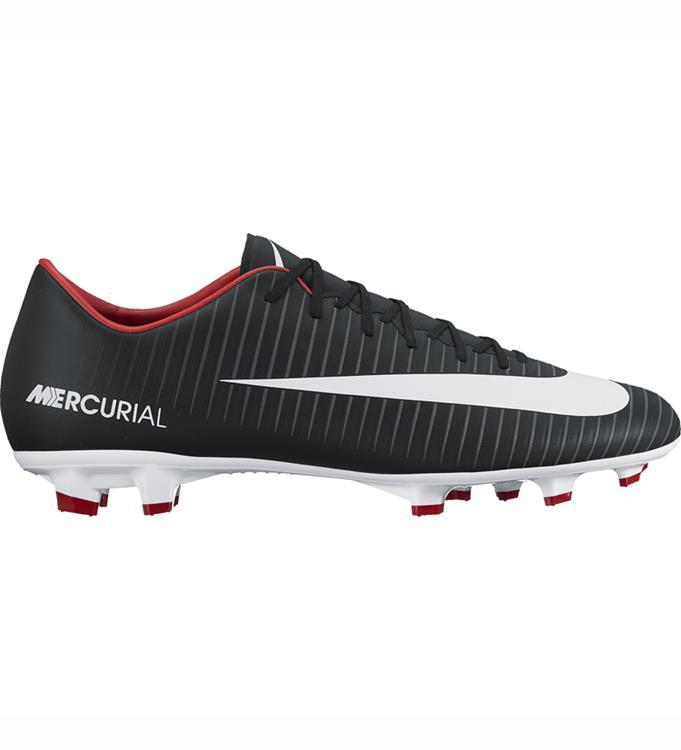 Zwarte rode voetbalschoen van Nike Mercurial victory FG 831964