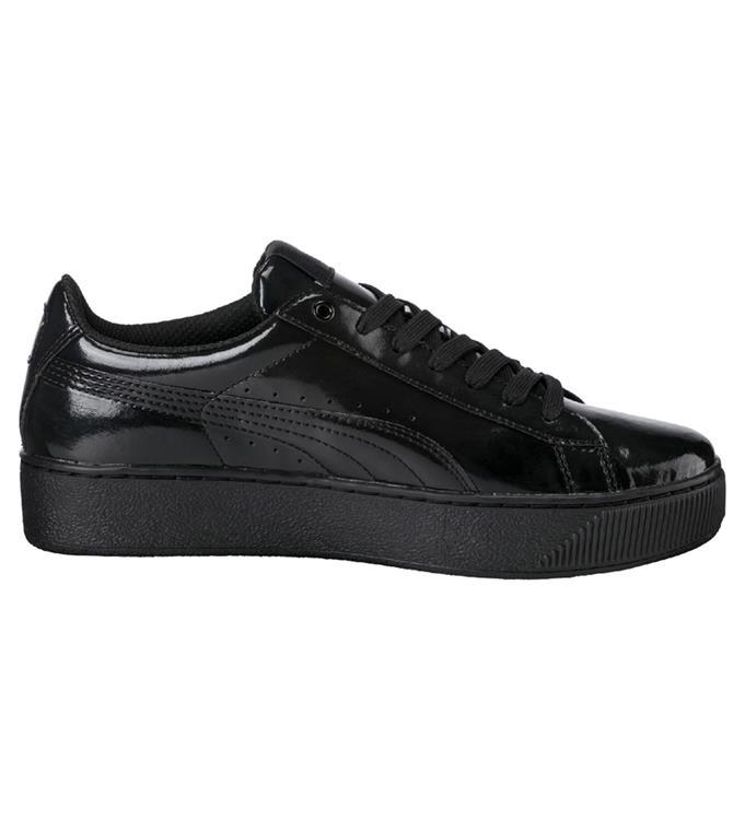 Zwarte Dames Sneaker Puma Vikky Platform Pat - 364892