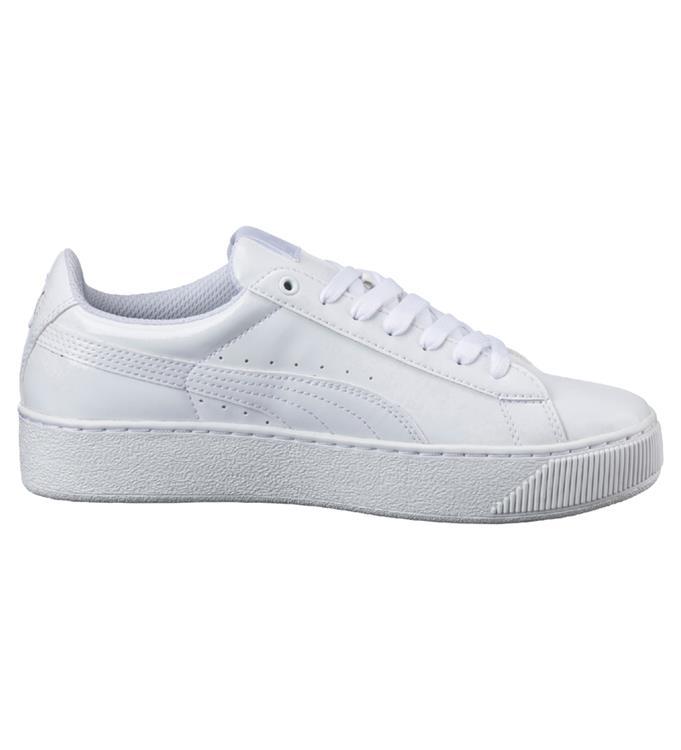 Witte Dames Sneaker PumaVikky Platform Pat -364892