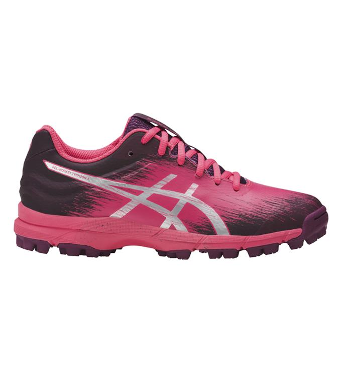 Rose zwarte Dames Hockeyschoen Asics Hockey typhoon3 -P756N