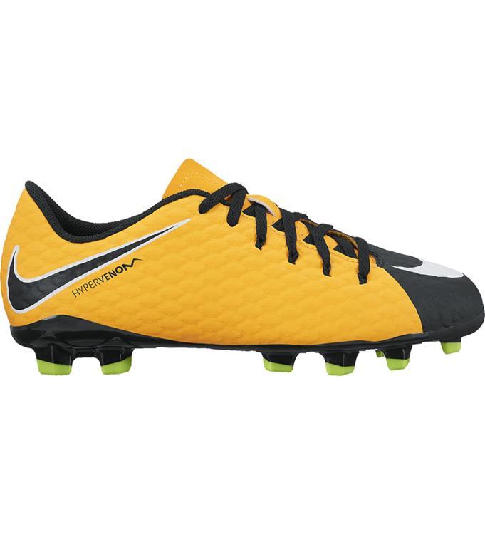 Zwart Oranje kids Voetbalschoen Nike Hypervenom Phelon FG - 852595