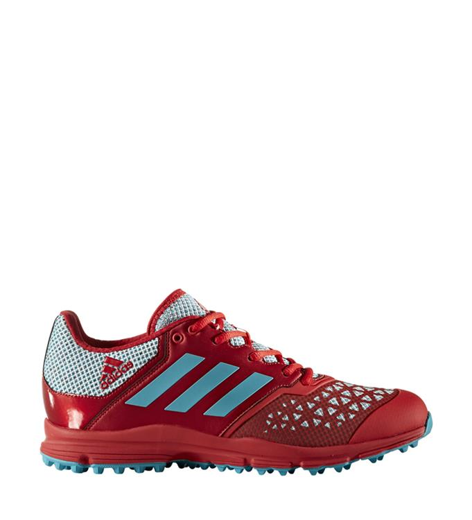 Rood blauwe Dames Hockey schoen Adidas Zone Dox - BY2534
