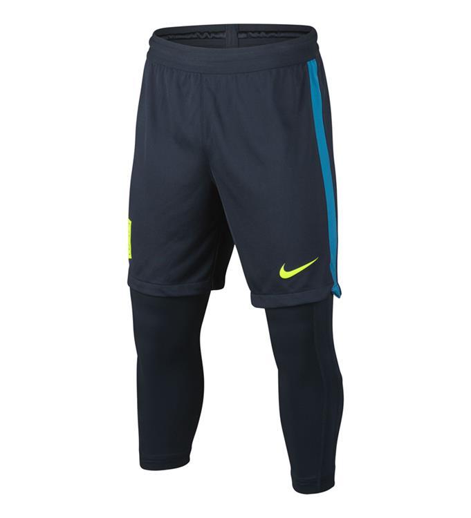 Grijze jongens voetbal short-legging Nike - Neymar squad dry