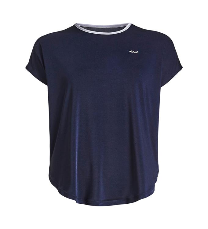 Donkerblauwe dames top loose fit Rohnisch - 202192