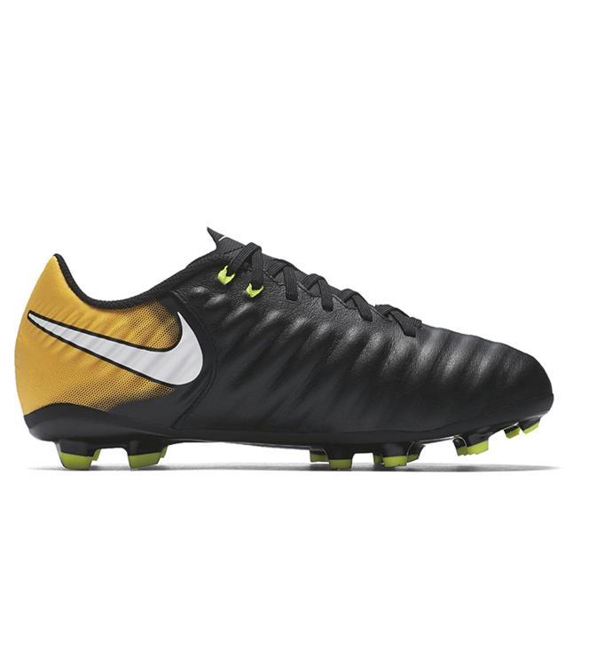 zwart oranje Kids voetbalschoen Nike Tiempo Ligera FG - 897725