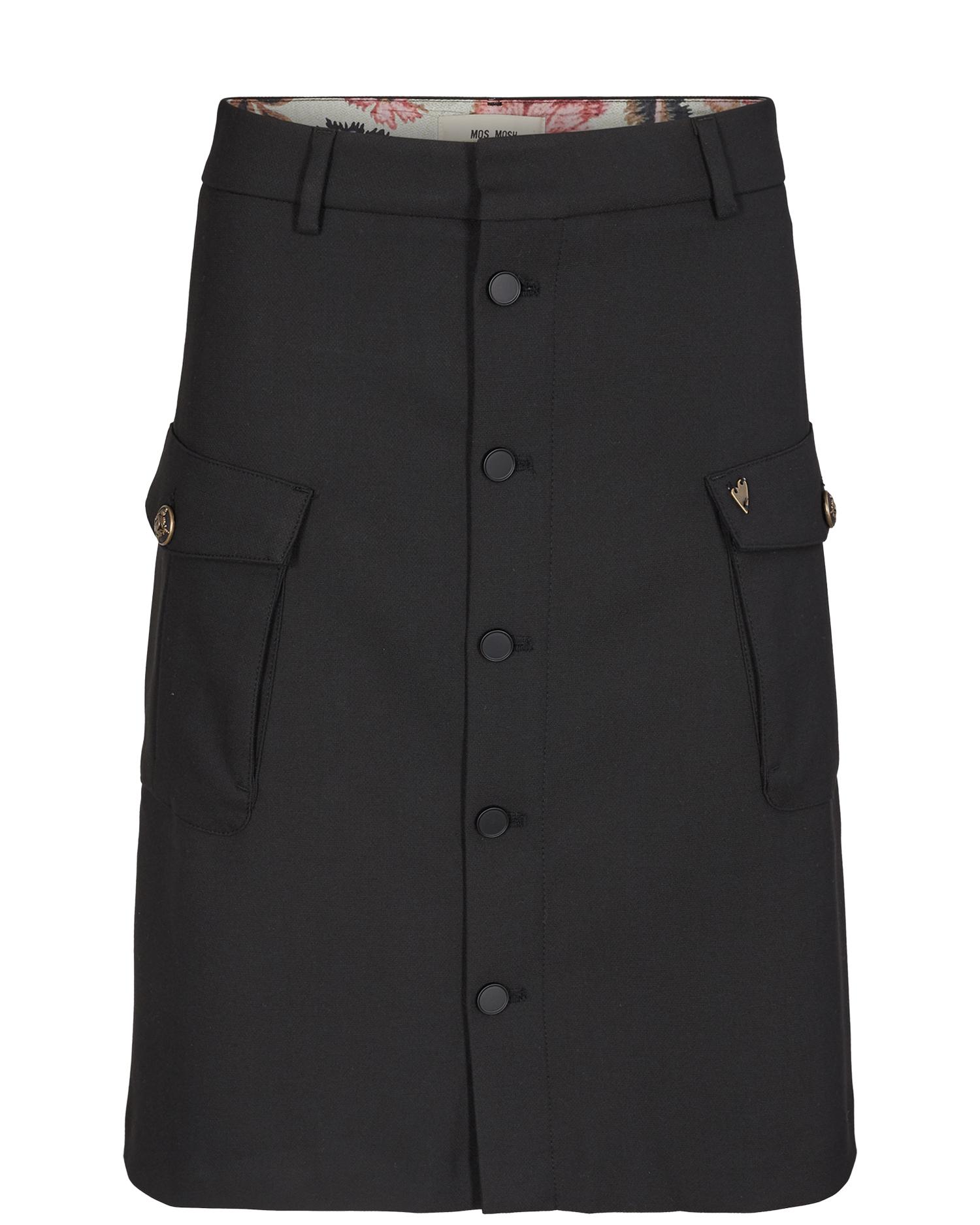 Zwarte dames rok tot de knie Mos Mosh - 128643-801