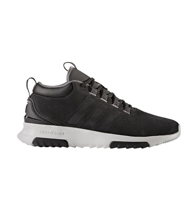 Zwart witte Sneaker Adidas CF Racer mid WTR - BC0023