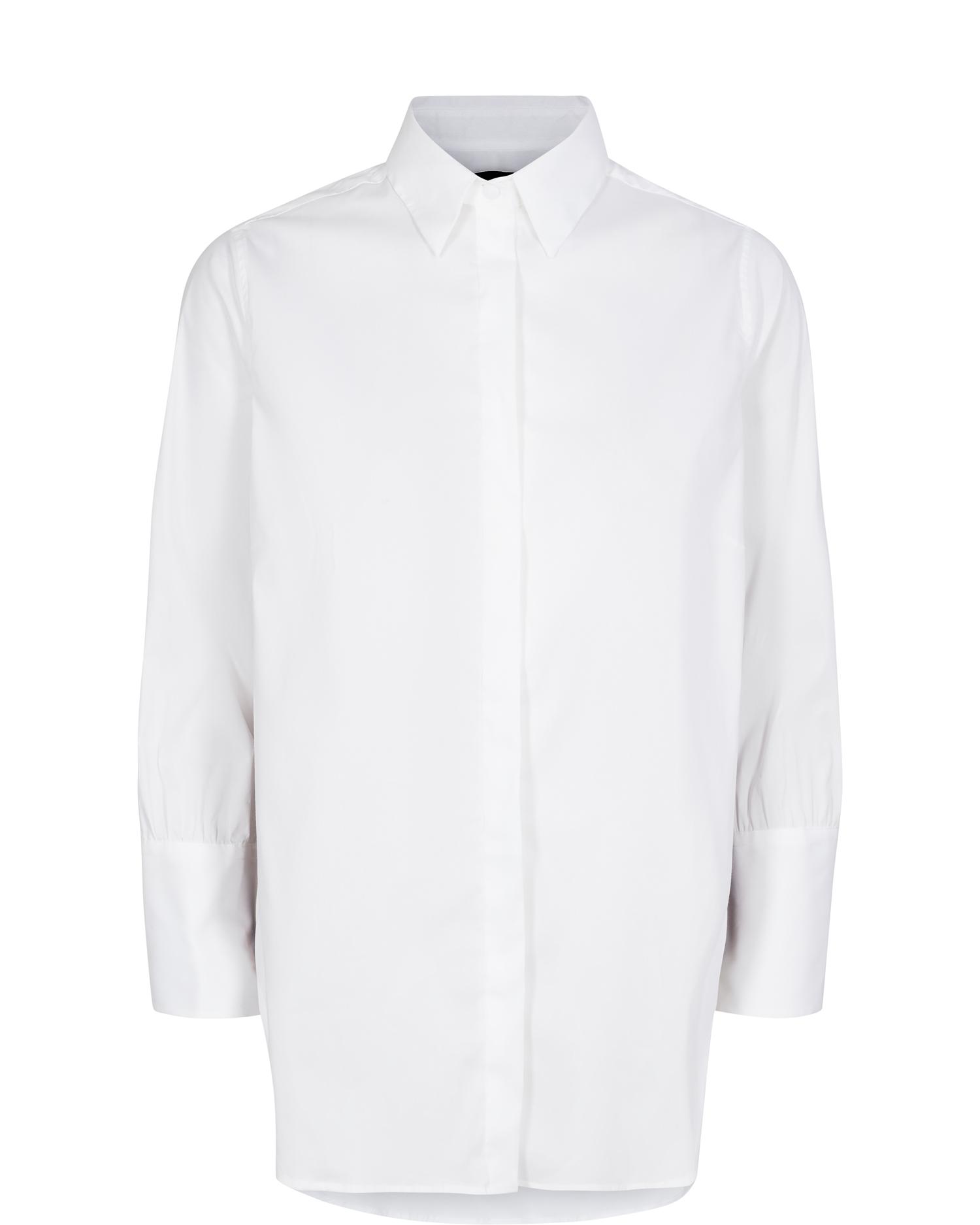 Witte dames blouse Mos Mosh - Larina Ribbon Shirt 7/8 - 129050-101