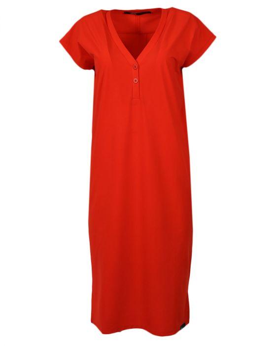 Rode lange dames jurk Penn & Ink - S18N274LTD