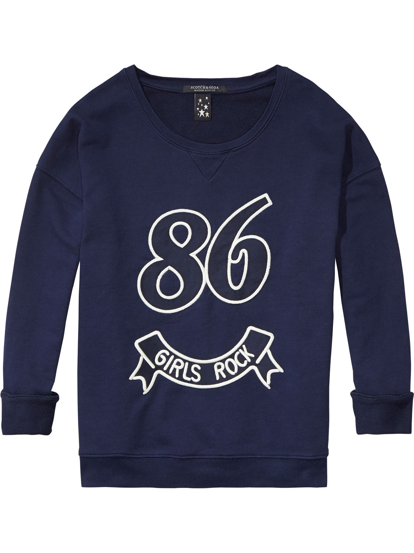 Blauwe sweater Maison Scotch  131190