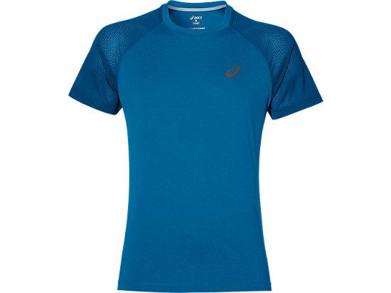 Blauw heren running shirt Asics - Lite show ss 141196