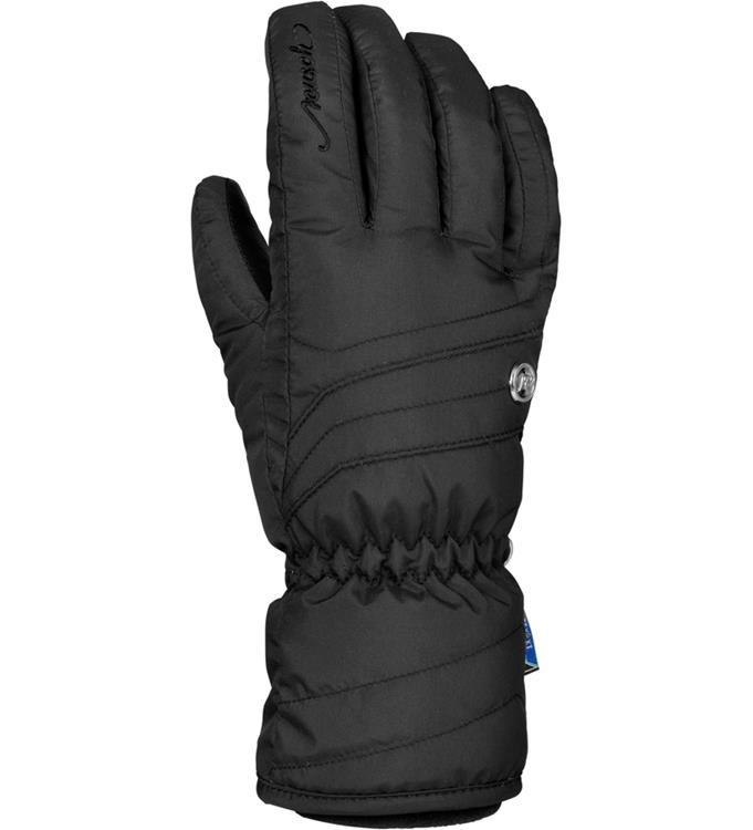 Zwarte dames handschoenen met leer Reusch - Lenda