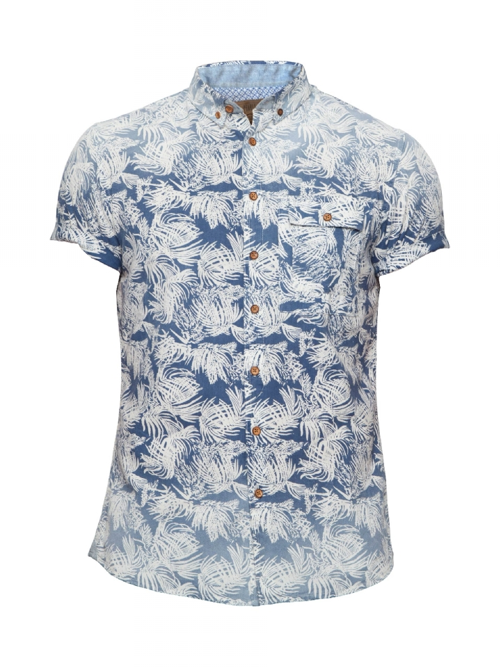 blouse blauw witte print Pearly King Hype Navy