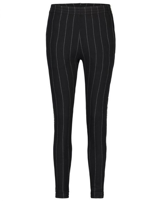 Zwarte dames broek met grijze krijtstreep Penn & Ink - W19F622