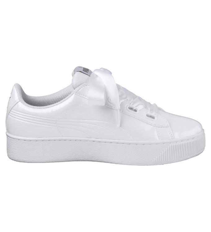 a67a4e7710c Witte Dames sneaker Puma Vikky Platform Ribbon P - 366419-02