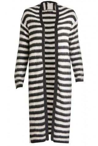 Zwart wit lang dames vest Summum - 7S5191-7576