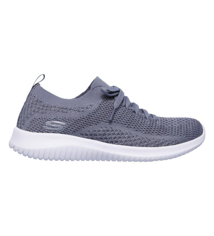 Grijs witte dames sneaker Sketchers Ultra flex Statements - 12841/SLT