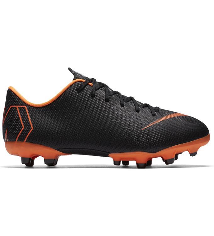 633ec982d0b Zwart oranje Kids voetbalschoen Nike mercurial vapor 12 Academy GS MG -  AH7347-081