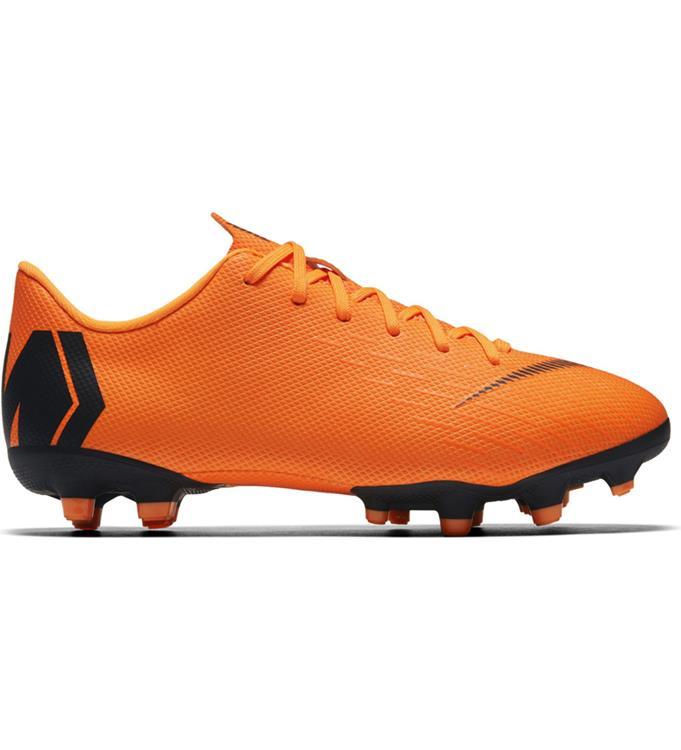 Oranje Zwarte Kids voetbalschoen nike Mercurial vapor 12 Academy GS MG - AH7347-810