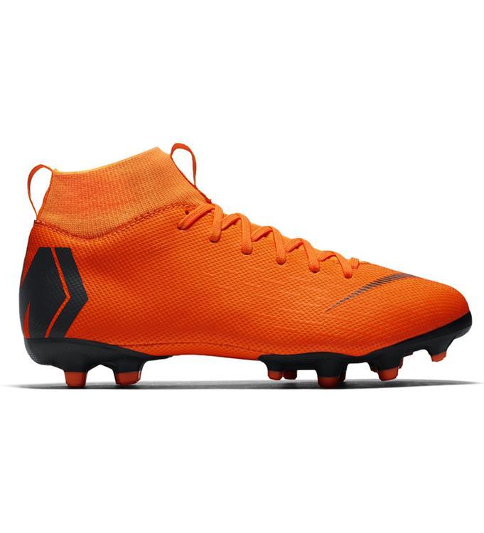 Oranje zwarte Kids voetbalschoen Nike Mercurial SuperFly 6 Academy GS MG - AH7337-810