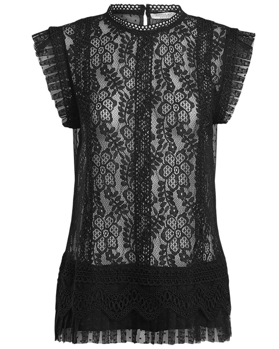 Zwarte kanten dames top Summum - 2S2196-10858